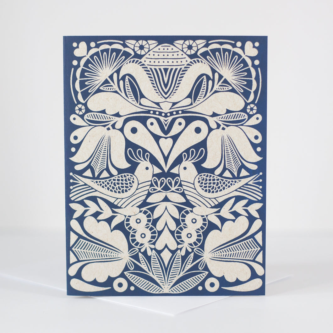 folk art inspired blank card by exit343design