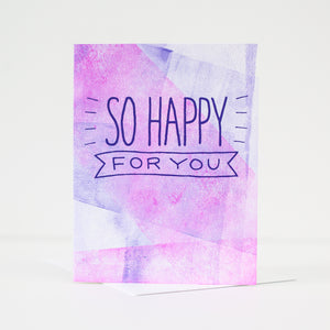 OOAK congratulations greeting card, card for new baby, card for wedding, blank congratulations card by exit343design