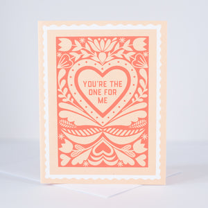 faux stamp folk art love card or wedding anniversary card by exit343design