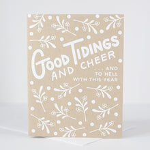 holiday card that says good tidings and cheer and to hell with this year by exit343design