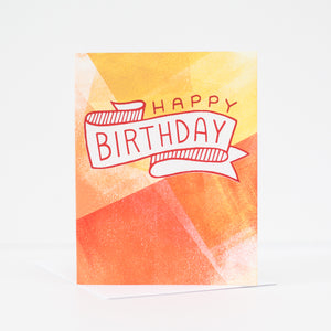 OOAK happy birthday greeting card, blank birthday card by exit343design
