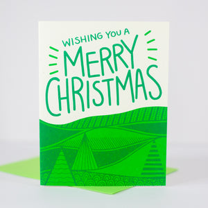rural landscape Christmas card by exit343design