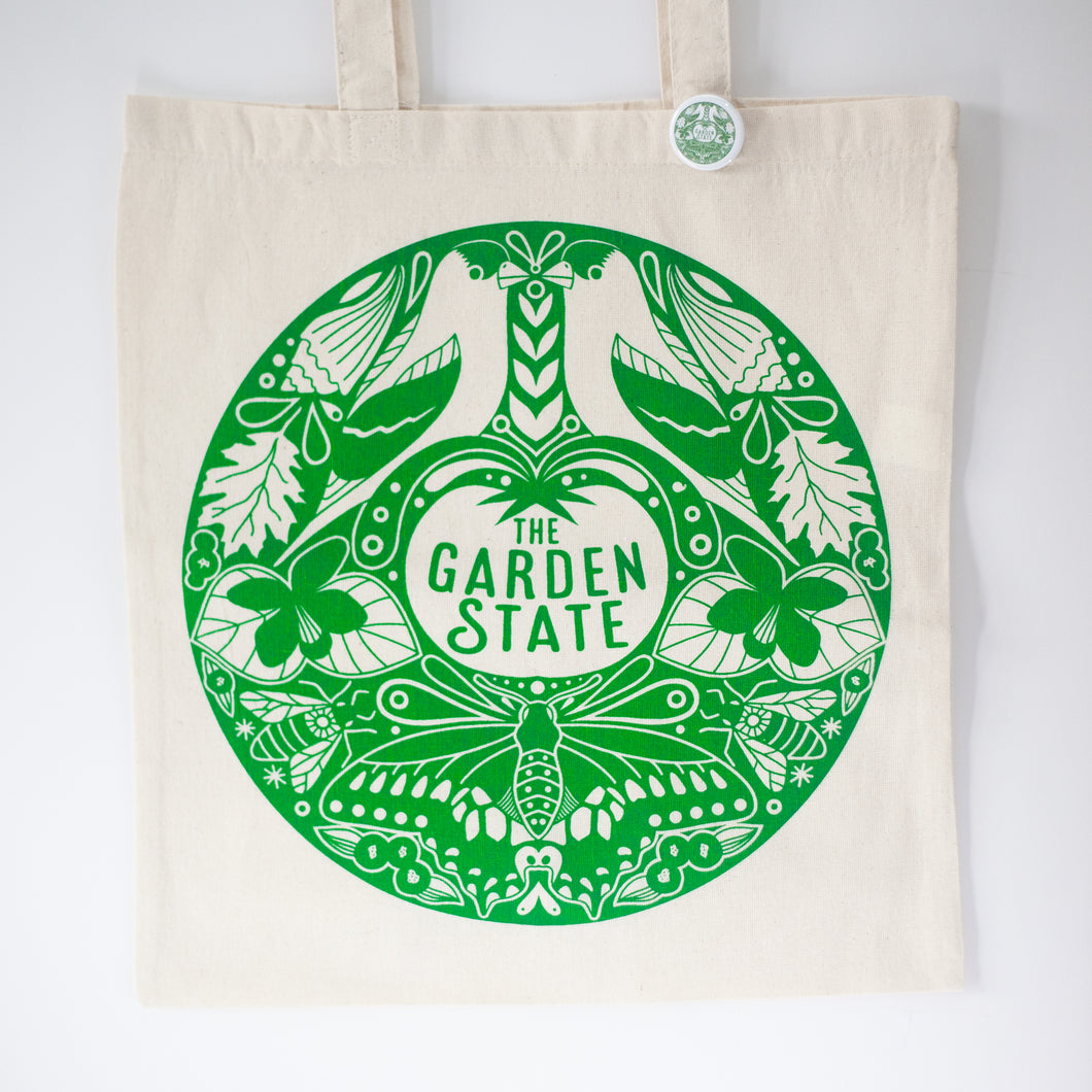 Garden state tote bag, New Jersey gift by exit343design