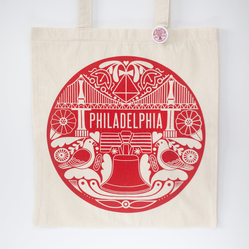 Philadelphia souvenir tote bag by exit343design
