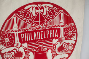 Philadelphia icons logo tote bag by exit343design