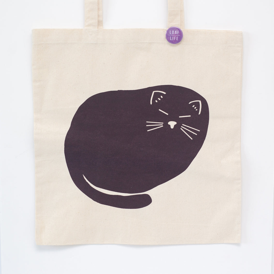 Cat loaf tote bag by exit343design, printed in the USA