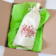 holiday helper funny gift bag, wine gift bag, easy holiday gift wrap
