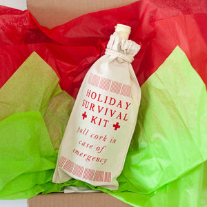 gift wrap inspiration for wine bottle and booze bag by exit343design