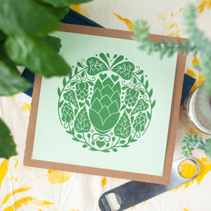 beer hop art print for homebrewer by exit343design