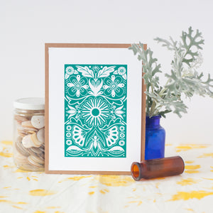 small folk art print for gallery wall