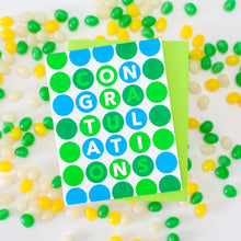 polka dot congratulations card by exit343design