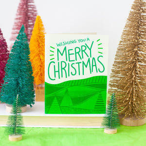 modern Merry Christmas card by exit343design