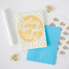 hooray for your day sunshine wedding card, card for wedding by exit343design