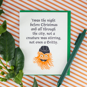 Gritty mascot Christmas card by exit343design
