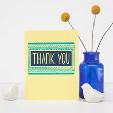 modern thank you card by exit343design