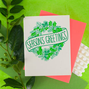 wreath and banner Christmas card by exit343design