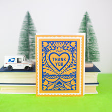 faux stamp thank you card by exit343design