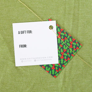 holiday ornament gift tag