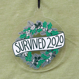 Survived 2020 holiday ornament for christmas tree