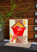 cute housewarming card for nature lover