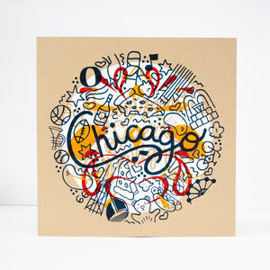test print number six, OOAK art print, one of a kind Chicago art print