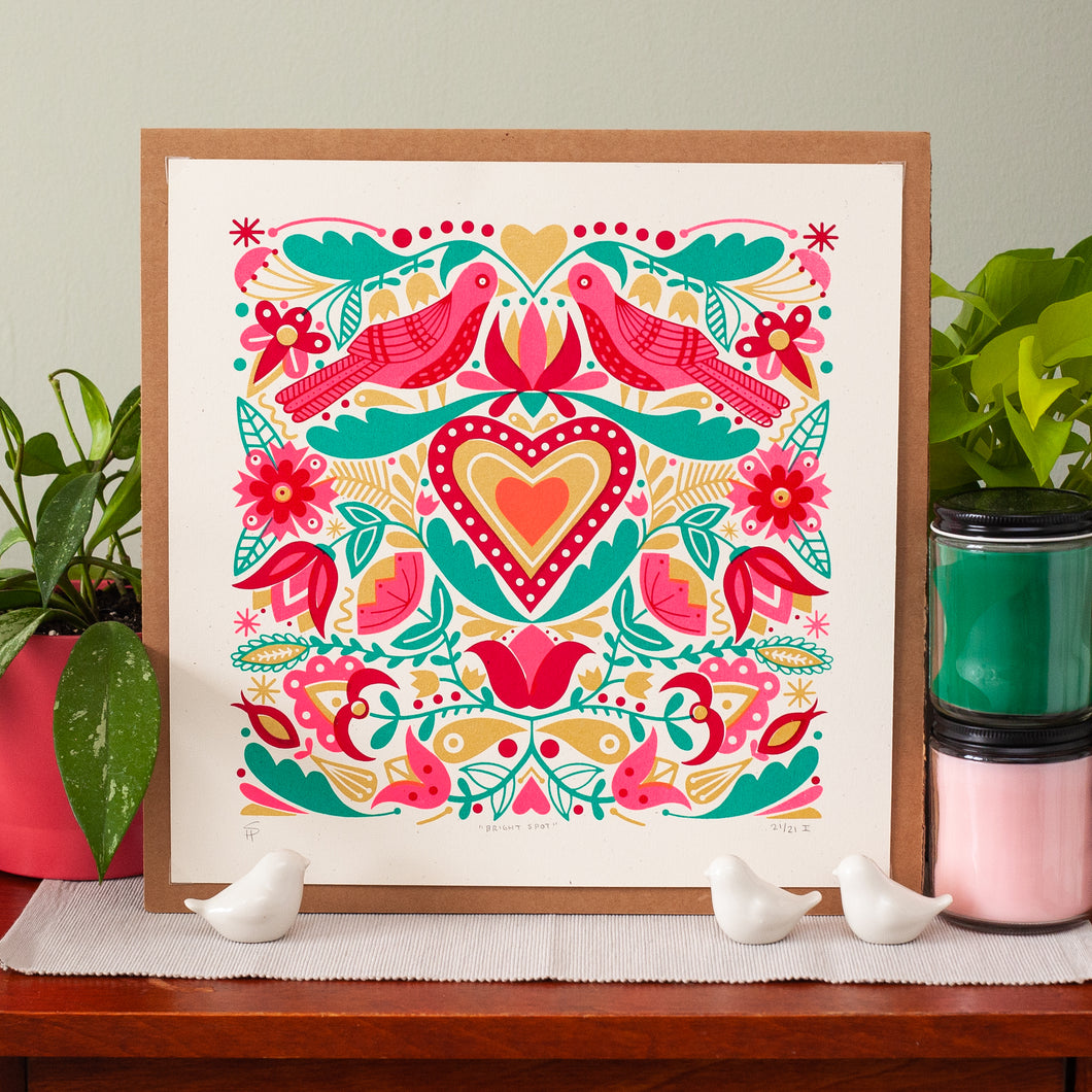 bright art print with birds by exit343design