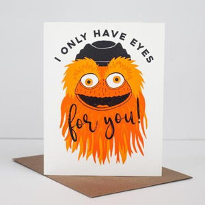 Gritty mascot, Flyers fan, funny Philly greeting card, Philly Valentine's card