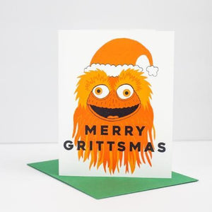 Merry Grittsmas holiday card, Gritty Christmas card, Philadelphia Christmas card by exit343design