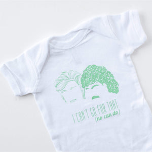 Hall and Oates baby onesie in green, Philadelphia baby gift