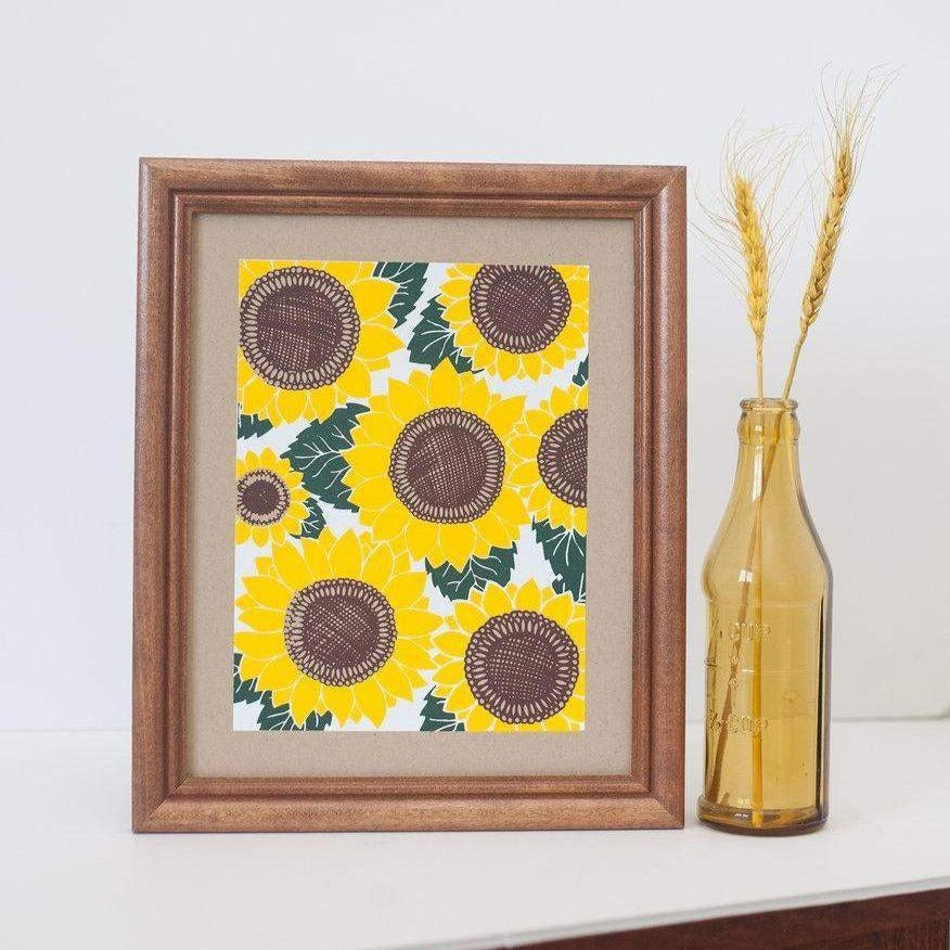 sunflower art print by exit343design