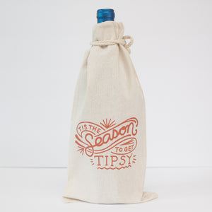 wine gift bag, funny holiday gift idea, 'tis the season to get tipsy bag by exit343design