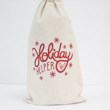 easy holiday gift wrap, funny holiday wine bag for Christmas gift by exit343design