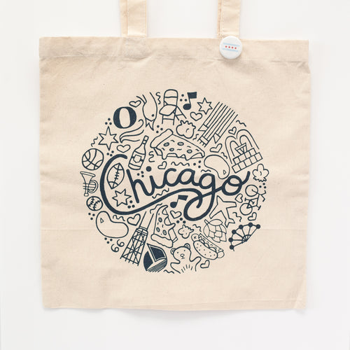 Chicago things tote bag by exit343design