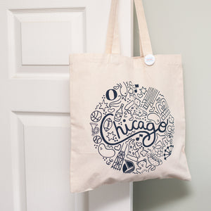 Chicago icons tote bag by exit343design