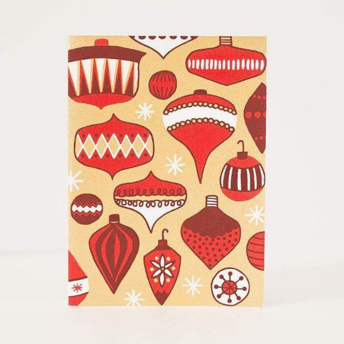 vintage Christmas ornament greeting card by exit343design