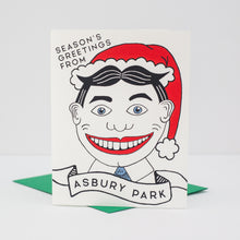 Asbury Park card, Tillie holiday card, New Jersey holiday card, season's greetings from Asbury Park