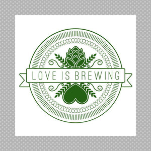 CUSTOM wedding coaster love is brewing craft beer
