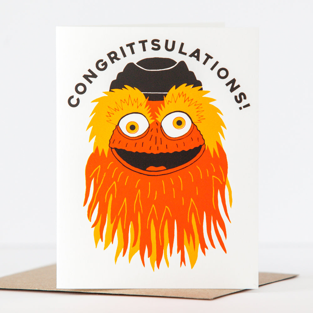 congrittsulations funny Gritty congratulations card by exit343design