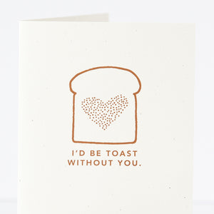 toast pun card for friend by exit343design