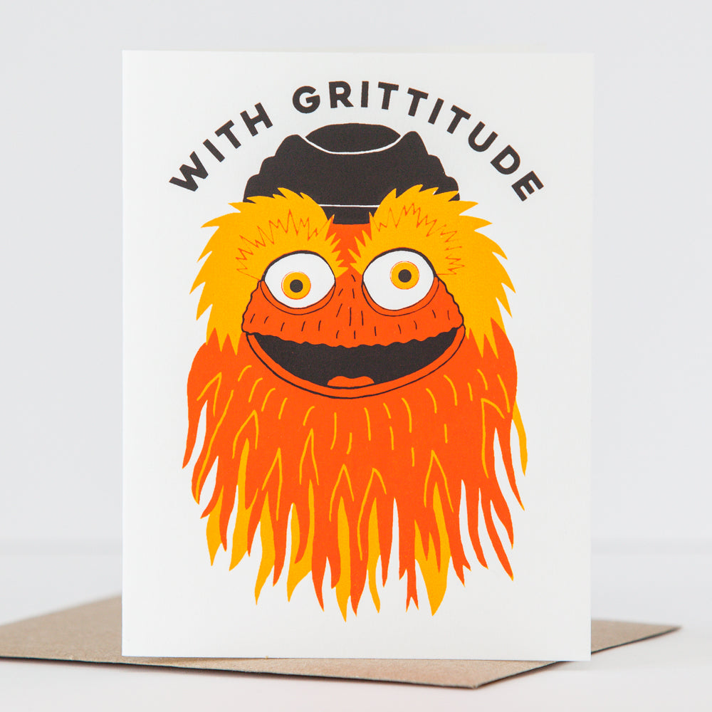 Gritty thank you card by exit343design, with grittitude card
