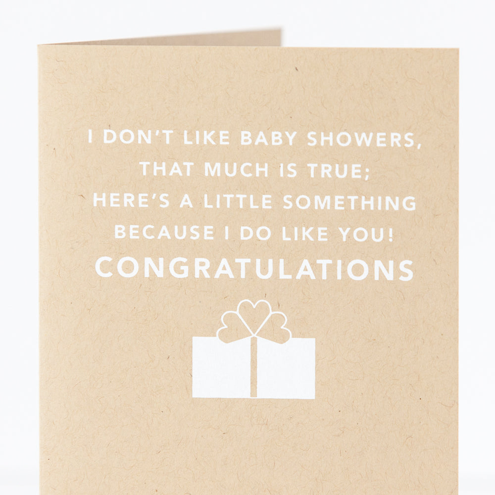 snappy baby shower card for a new mom by exit343design