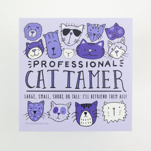 cat lover sticker, gift for cat lover, purple cat sticker