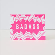 hot pink greeting card, badass card for friend, funny congratulations card