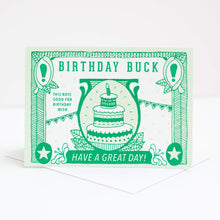 birthday buck handprinted birthday card by exit343design, each card good for one birthday wish