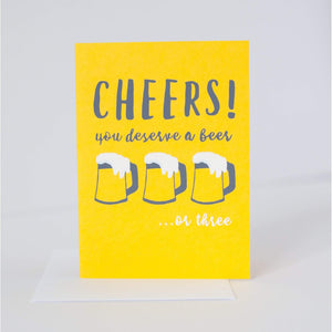 cheers birthday card, cheers congratulations card, cheers graduation card by exit343design