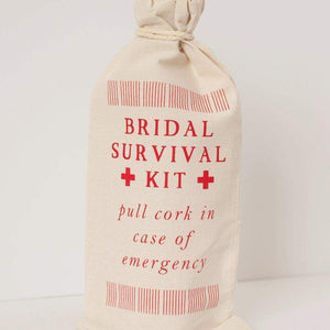 bridal survival kit gift bag, bridesmaid gift idea by exit343design