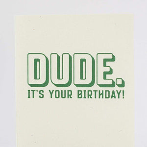 dude birthday card for man by exit343design