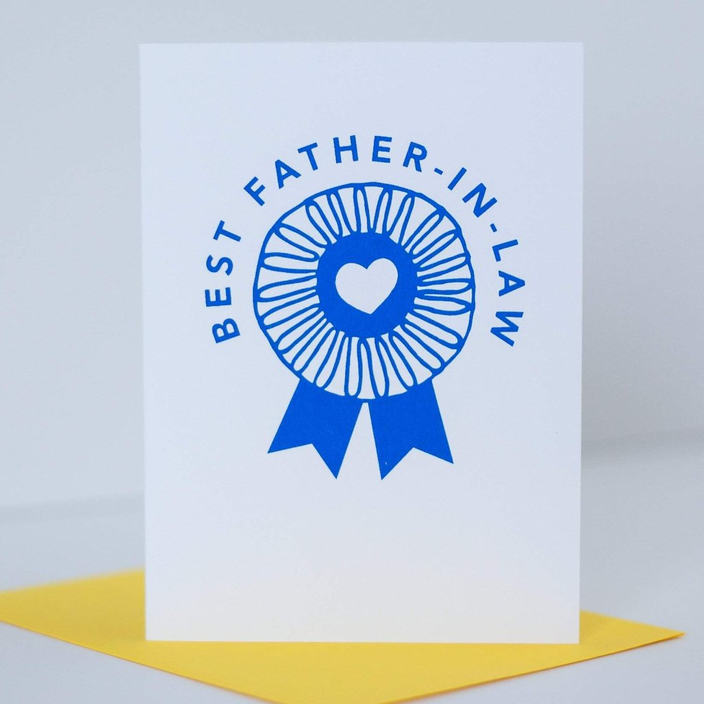 Fathers Day Card Blue Ribbon Best Father In Law Exit343design