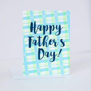 classic plaid father's day card by exit343design