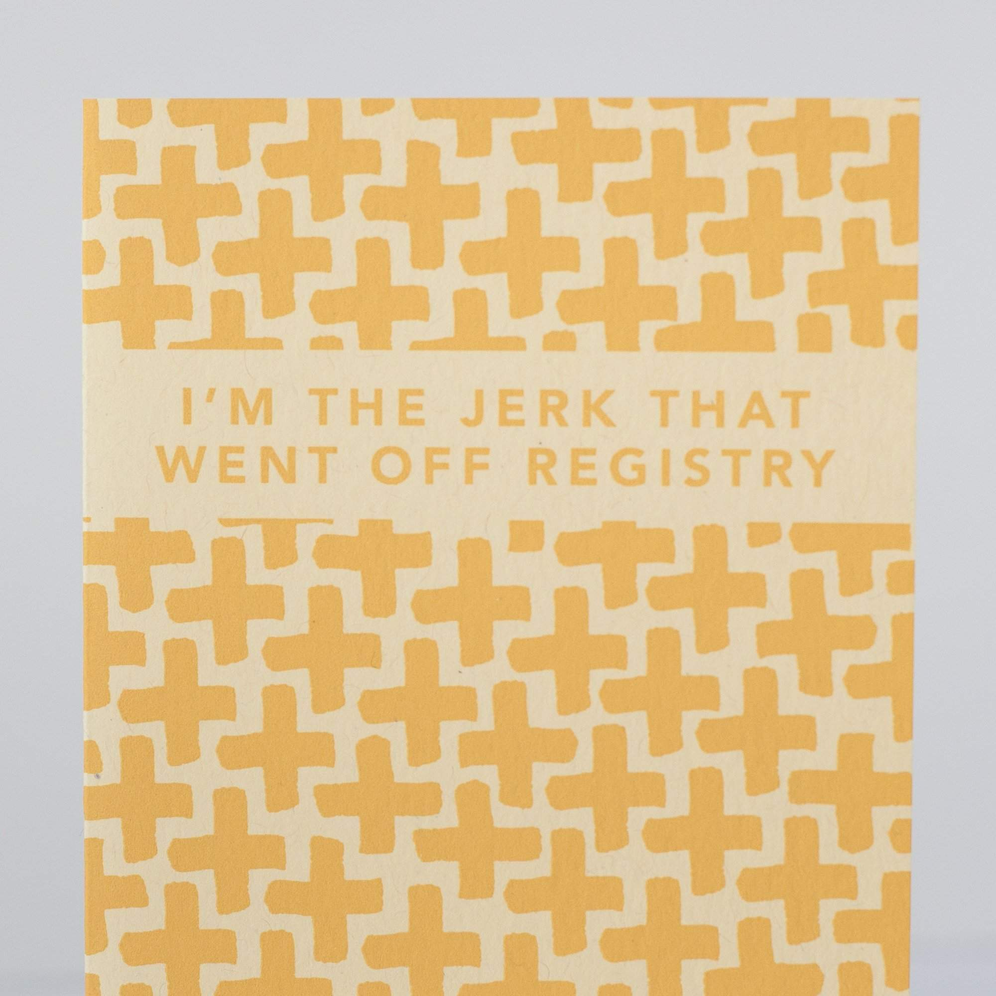 off registry jerk card